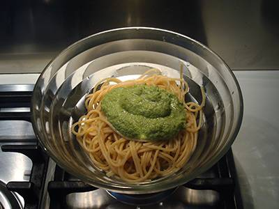 Pasta con pesto di fagiolini 5
