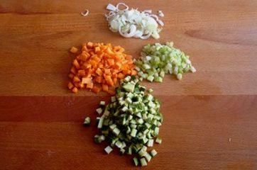 Riso venere con salmone e verdure 3