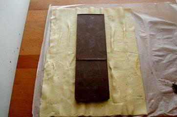 Treccia di sfoglia al cioccolato 1