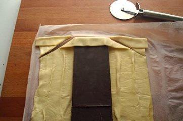 Treccia di sfoglia al cioccolato 2