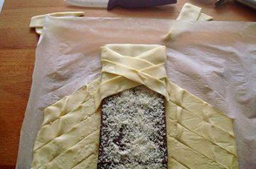 Treccia di sfoglia al cioccolato 4