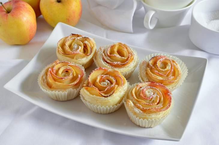 Rose di sfoglia alle mele