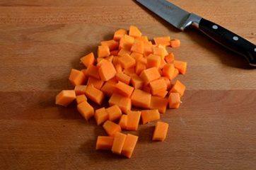Pasta con zucca e gorgonzola 1
