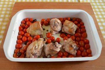 Pollo al forno con pomodorini e olive 3