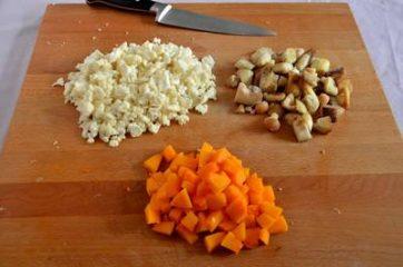 Quinoa con zucca funghi e cavolfiore 1