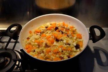 Quinoa con zucca funghi e cavolfiore 4