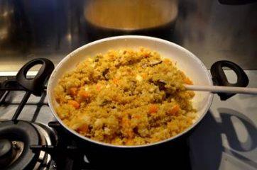 Quinoa con zucca funghi e cavolfiore 6
