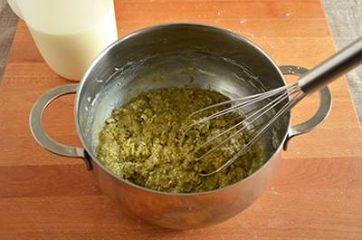 Crema al pistacchio senza uova 3