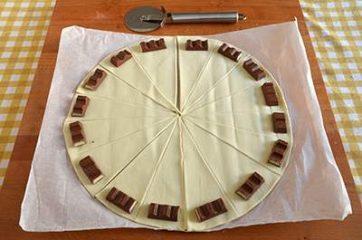 Cornetti al cioccolato kinder 2