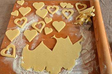 Biscotti a forma di cuore salati 4