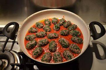 Polpette di carne e spinaci 10