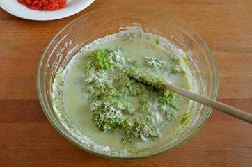 Plumcake con pesto di rucola e pomodorini 5