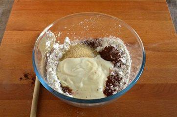 Torta di mele e cacao vegan 3