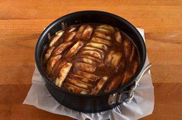 Torta di mele e cacao vegan 7
