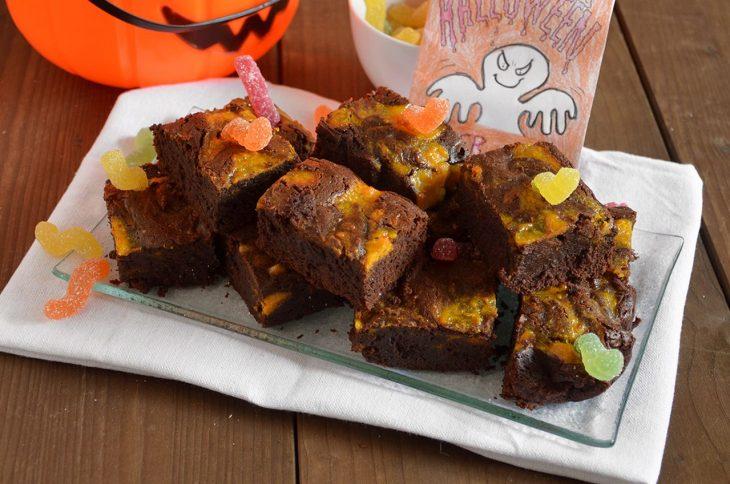 Brownies zucca e cioccolato