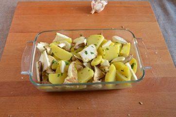 Funghi e patate al forno 5